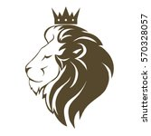 lion head with crown logo ...