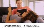 portrait of mixed race couple... | Shutterstock . vector #570330013