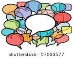 your message is heard above... | Shutterstock . vector #57033577