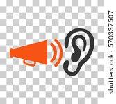 listen sound icon. vector... | Shutterstock .eps vector #570337507