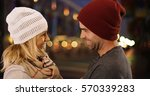sexy hipster couple laughing... | Shutterstock . vector #570339283