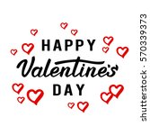 happy valentines day greeting... | Shutterstock .eps vector #570339373