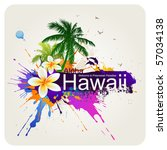 tropical abstract background. ... | Shutterstock .eps vector #57034138
