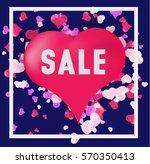 valentines day background ... | Shutterstock .eps vector #570350413