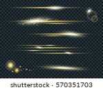 vector set of glow lightning...