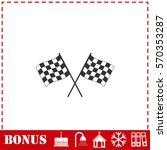 racing flag icon flat. simple... | Shutterstock . vector #570353287