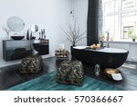 stylish oriental style bathroom ... | Shutterstock . vector #570366667