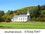 Big Church In Vermont Country...