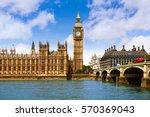 big ben london clock tower in...   Shutterstock . vector #570369043