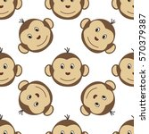 joyful kids seamless pattern... | Shutterstock .eps vector #570379387