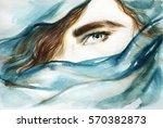 eye. abstract face. fashion... | Shutterstock . vector #570382873