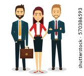 business people avatars icon | Shutterstock .eps vector #570386593