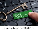 closed up finger on keyboard... | Shutterstock . vector #570390247