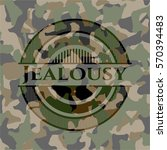 jealousy on camo pattern | Shutterstock .eps vector #570394483