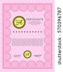 pink sample certificate or... | Shutterstock .eps vector #570396787
