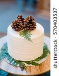 white wedding cake at a...   Shutterstock . vector #570403537