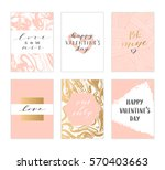 vector modern love cards ...   Shutterstock .eps vector #570403663