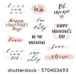 vector modern hand written... | Shutterstock .eps vector #570403693