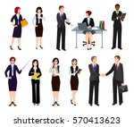 group of business people in... | Shutterstock .eps vector #570413623