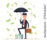 businessman or manager hold... | Shutterstock .eps vector #570416467