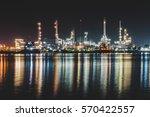 oil refinery industry. | Shutterstock . vector #570422557