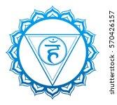 the third    chakra throat | Shutterstock .eps vector #570426157