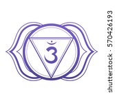 the sixth   chakra third eye  ... | Shutterstock .eps vector #570426193