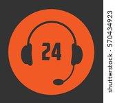 24 call center icon. vector...   Shutterstock .eps vector #570434923
