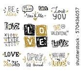 st. valentine's day vector hand ... | Shutterstock .eps vector #570436057