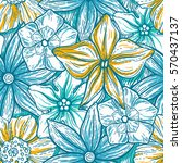 hand drawn pattern with... | Shutterstock .eps vector #570437137