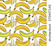 bananas on white background ... | Shutterstock .eps vector #570437143