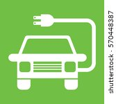 a simple electric vehicle icon... | Shutterstock .eps vector #570448387