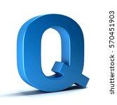 q letter icon. 3d render...   Shutterstock . vector #570451903