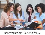 female business colleagues... | Shutterstock . vector #570452437