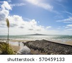beautiful nature with rangitoto ... | Shutterstock . vector #570459133