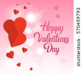 valentine day gift card holiday ... | Shutterstock .eps vector #570459793