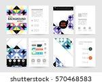 memphis geometric background... | Shutterstock .eps vector #570468583