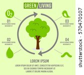 green living concept infographic | Shutterstock .eps vector #570470107