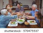smiling multi generation family ... | Shutterstock . vector #570475537