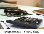 car model with coins  finance... | Shutterstock . vector #570475807