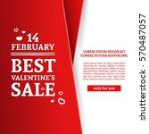 template design happy valentine'... | Shutterstock .eps vector #570487057