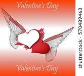 hearts background floating with ...   Shutterstock .eps vector #570489463