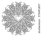 coloring page for adult and... | Shutterstock .eps vector #570491857