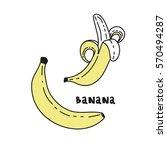 sweet bananas set | Shutterstock .eps vector #570494287