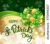 clovers  coins and original... | Shutterstock .eps vector #570498307