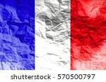 france national flag 3d... | Shutterstock . vector #570500797