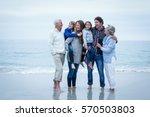 full length of cheerful family...   Shutterstock . vector #570503803