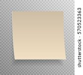 sticky note isolated on... | Shutterstock .eps vector #570523363