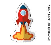 rocket launcher isolated icon... | Shutterstock .eps vector #570527053