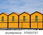Bathing Huts At The Coast